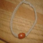 Natural W/Wood Bead Bracelet