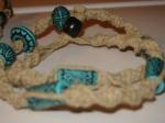 Blue Tikki Bead Necklace