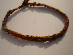 Hemp Necklace - Rasta Tie Die Choker (USD $9.99)