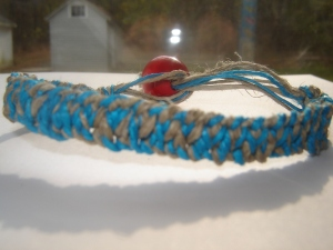Hemp Bracelet - turquoise/natural hemp bracelet (USD $4.99)